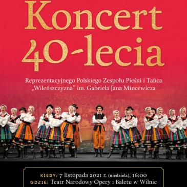 """""""Wileńszczyzna"""" ansamblio jubiliejinis koncertas"""